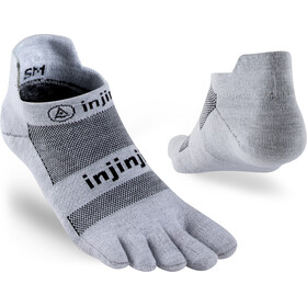 Injinji Run Xtralife Lightweight No Show Socks Men, gray